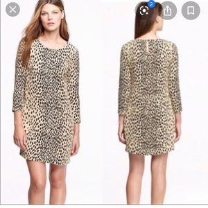 JCrew leopard shift dress 0